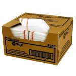 """Chicopee 8252 Chix® 13"""" x 21"""", White, Reusable, Medium Duty, Antimicrobial Treated, Food Service Towel (150 per Case)"""