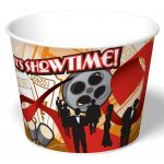 """Graphic Packaging SFR-85 Popcorn Container 85 Oz, 5.53"""" H, Single Poly Clay Coated Paper, Regular, Showtime, (300 per Case)"""