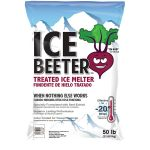 Kissner 8318475 Ice Beeter® Ice Melt - Treated Enriched w/Beet Extract  – (PURPLE TINTED) 50# Bag