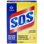 S.O.S 88320 Wool Soap Pad Solid, Blue Soap/Gray Steel (15/ pack, 12/case)